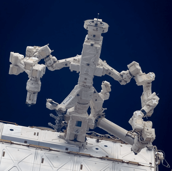 Dextre on the Destiny module, the most sophisticated robot ever built